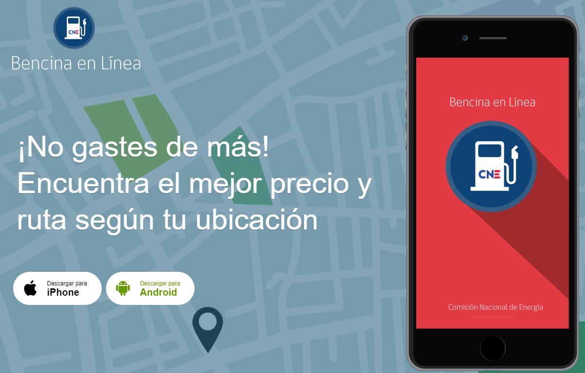 Bencina en línea permite buscar bencineras económicas cerca de dónde estemos