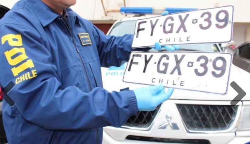 Placas patentes clonadas o robadas de un vehículo
