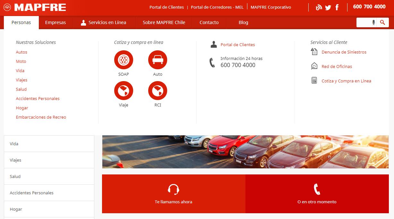 Mapfre es una compañía aseguradora en Chile que permite comparar el costo de la póliza