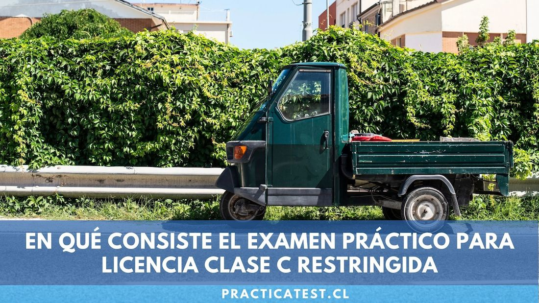 Examen práctico y posibles errores de la licencia clase C restringida en Chile