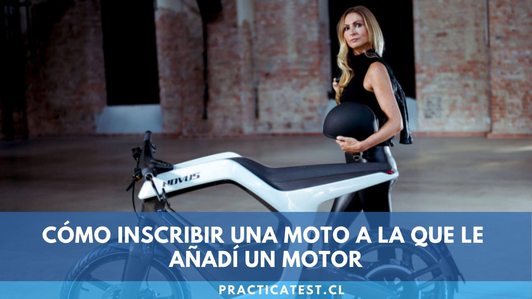 Inscribir en registro de vehículos una moto hechizo con motor nuevo o bicicleta