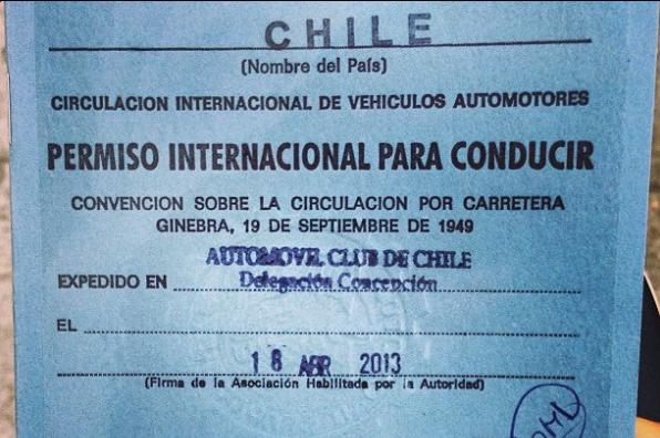 licencia conducir internacional