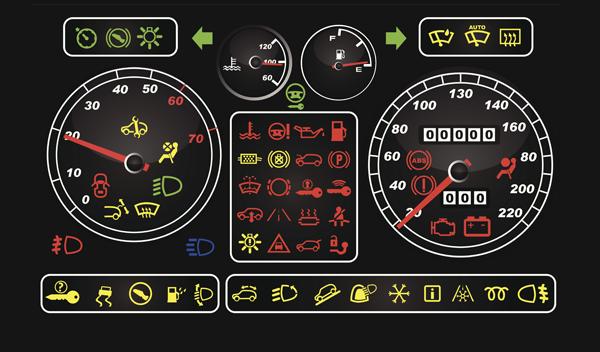 Luces de advertencia del tablero de instrumentos de un vehículo y su significado