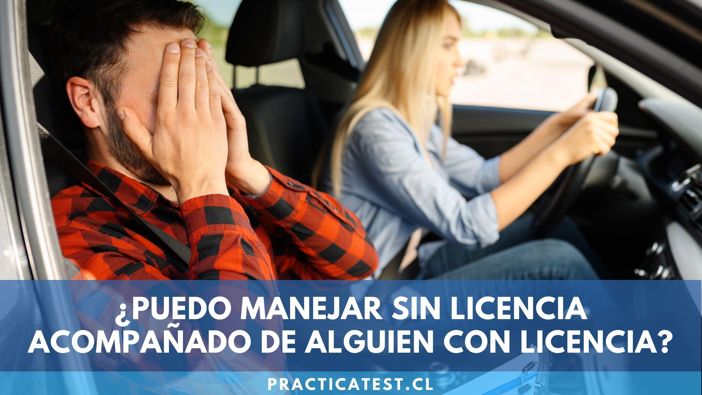 Está o no permitido conducir un vehículo sin tener licencia de conducción