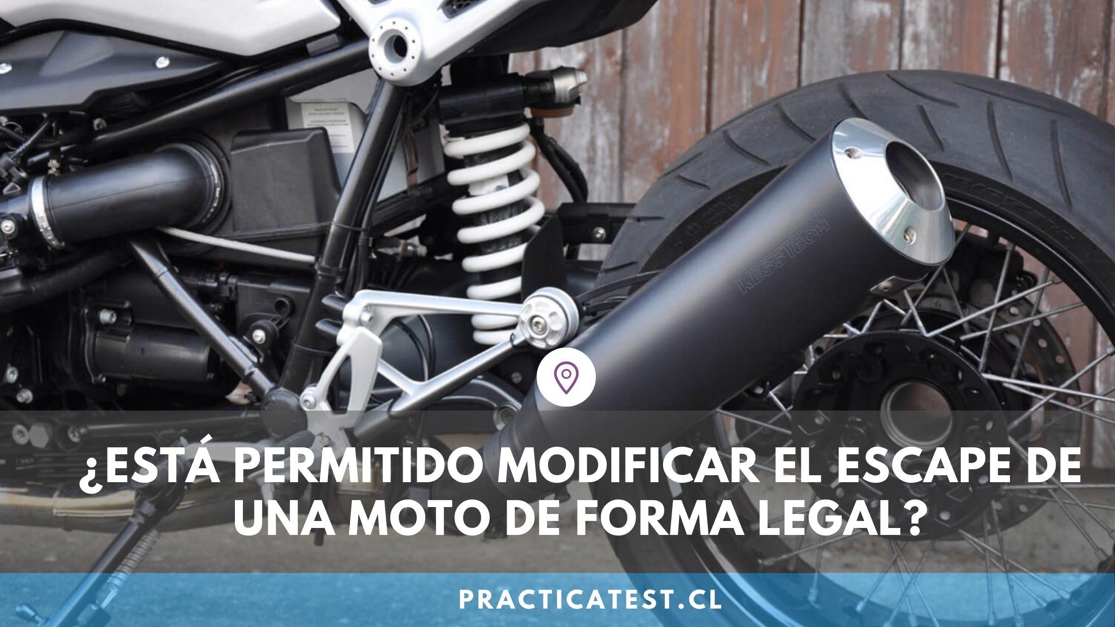 Multas y sanciones por circular con el escape libre en una motocicleta en Chile