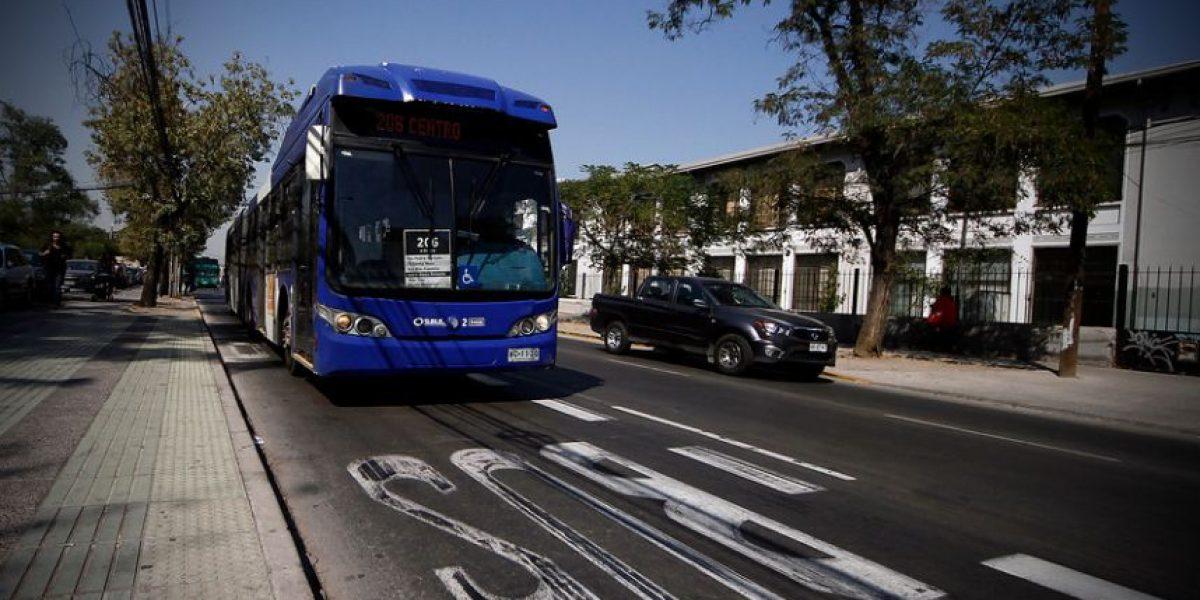 Pistas solo para transporte público que el MTT ha habilitado en ciudades como Santiago