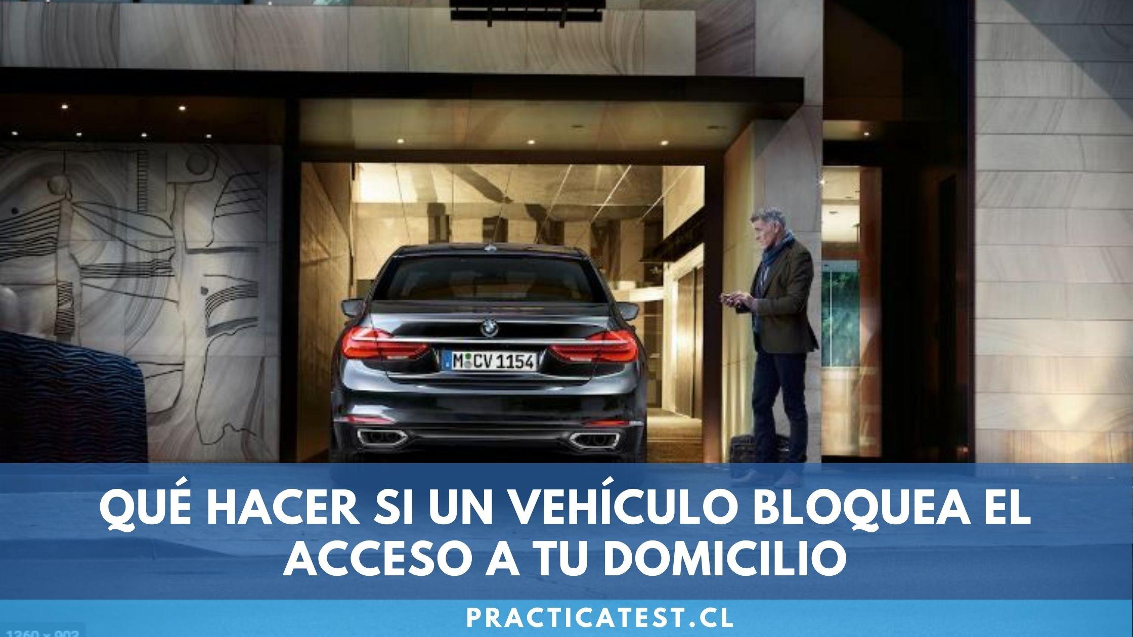 Acciones a realizar en caso de que otro vehículo bloquee el acceso a mi domicilio