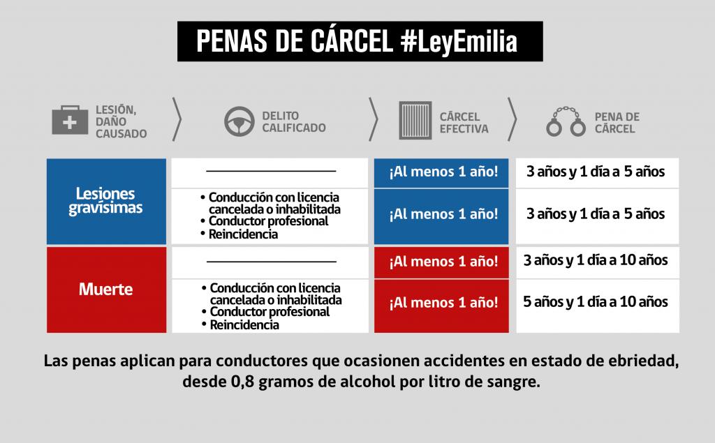 Lesiones graves y gravísimas que sanciona la Ley Emilia con cárcel