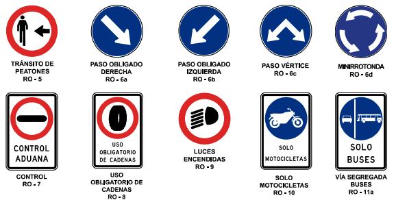 Señal de reglamentación motociclistas tránsito de peatones y luces encendidas