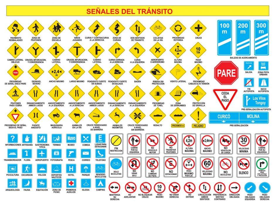 Señalización de tránsito para motociclistas que circulen por vías Chilenas